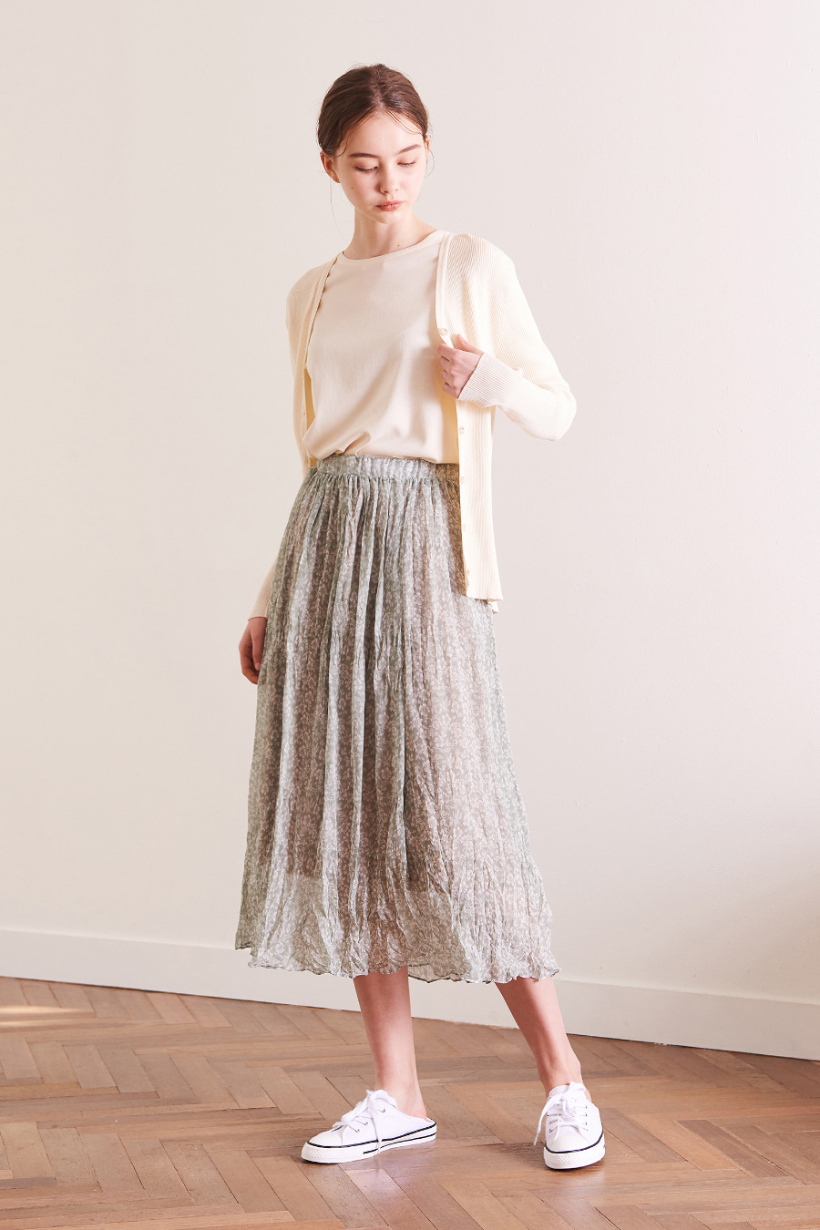 유라고 URAGO Leaf pattern skirt