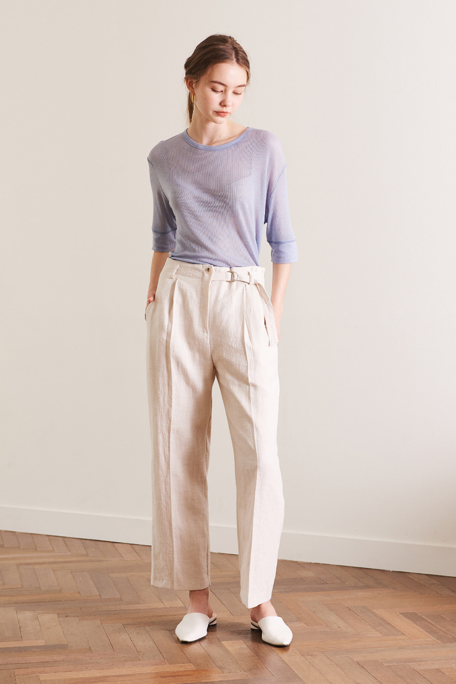 유라고 URAGO Belt-line linen pants