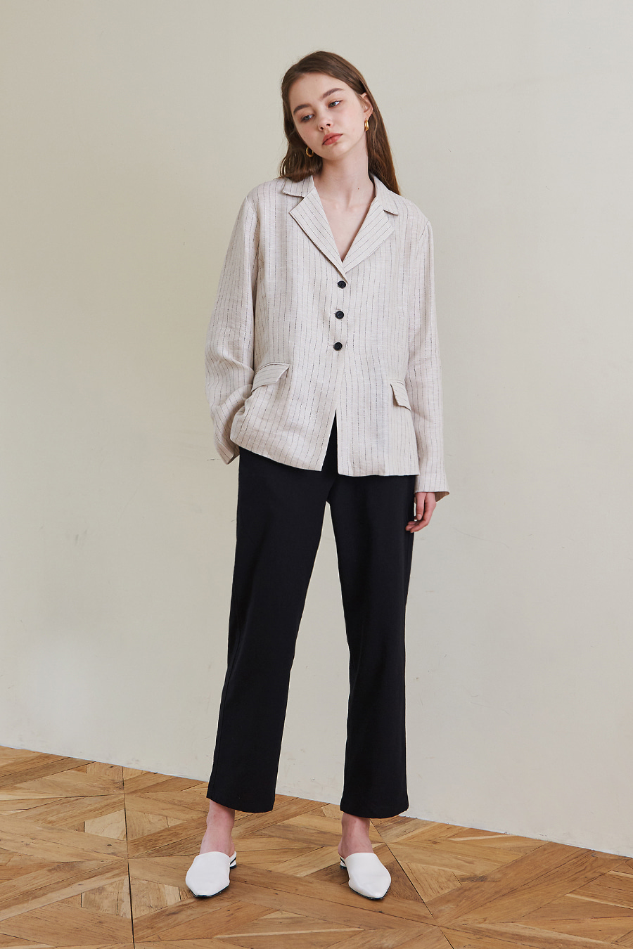 유라고 URAGO Linen string pants