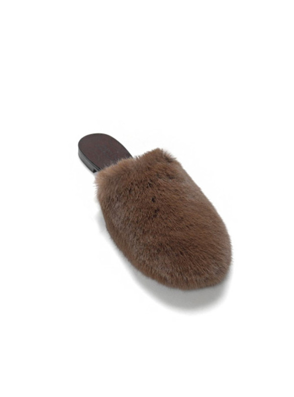 유라고 URAGO Urago hand-made fur slippers