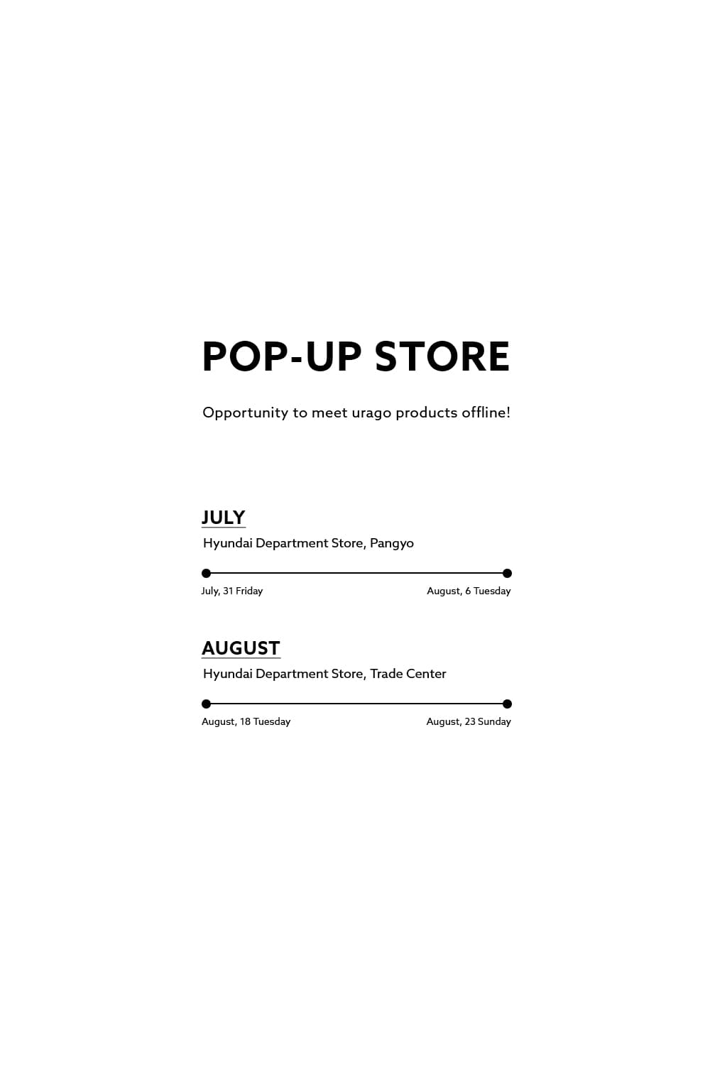 URAGO POP-UP STORE