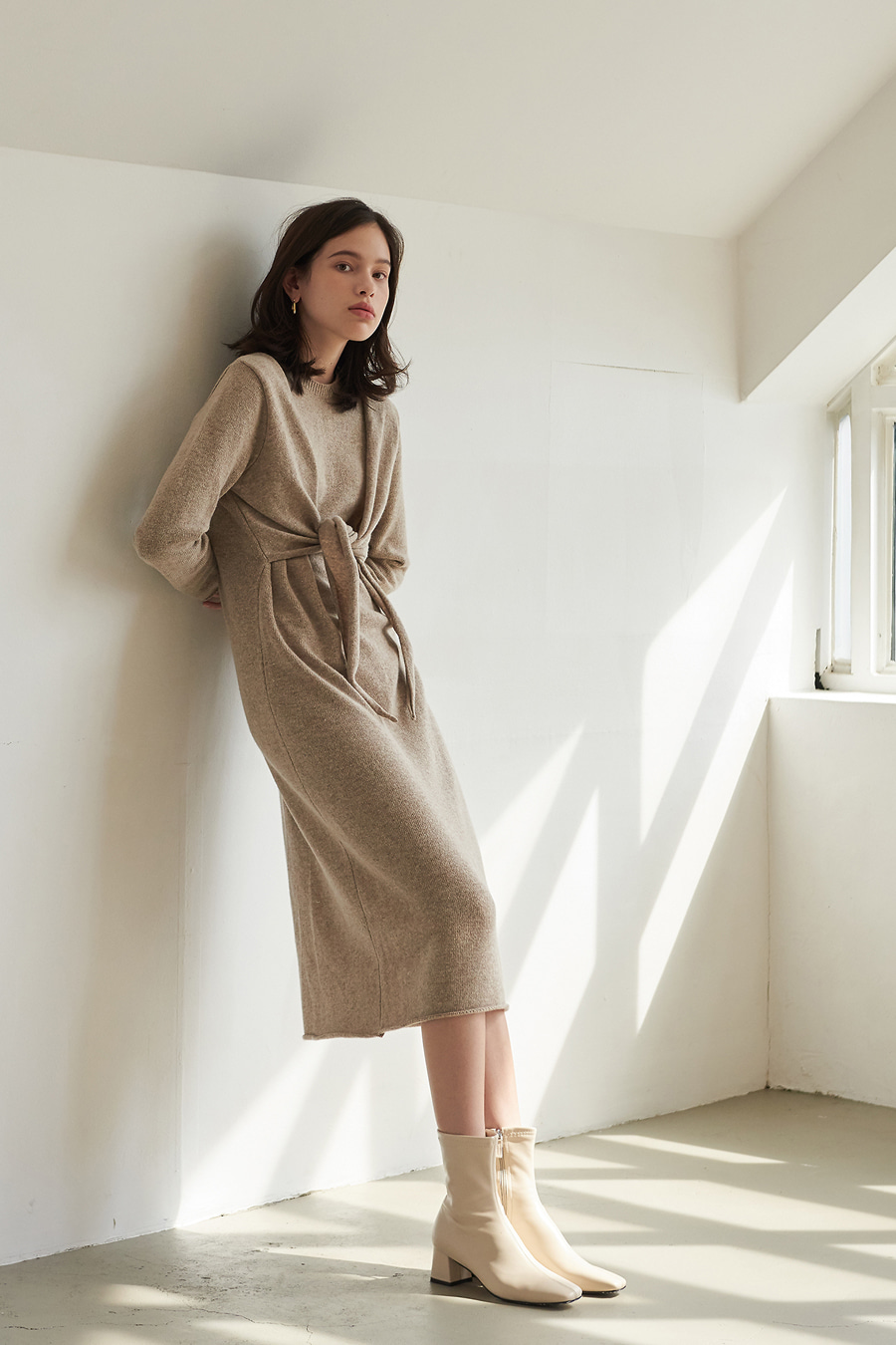 유라고 URAGO Hug wool knit dress